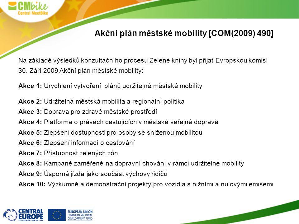 Akční plán městské mobility [COM(2009) 490]